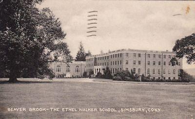 Postcard Beaver Brook The Ethel Walker School Simsbury Ct