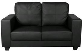 Flatpack condition 2 seater sofa black or brown colours available
