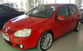 2005 VOLKSWAGEN GOLF GT TDI Red Manual Diesel