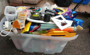 HUGE Bin filled with tools and hardware - super sale $50.00
