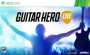 Guitar Hero Live Xbox 360 sealed box unopened with guitar