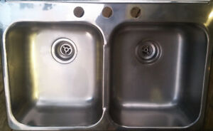 Double kitchen sink.