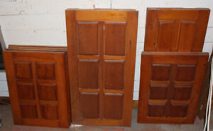 10 Solid pine pins wood bois raised panel doors cabinets armoire