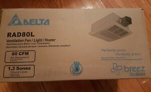 Delta Ventilation Fan/Light/Heater - NEW - Still in Box London Ontario image 2
