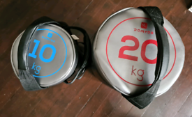 2 Domyos weight bags. 20 & 10 kg