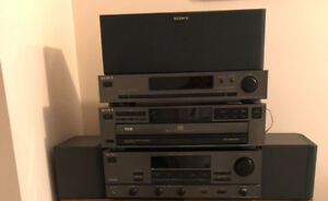 Sony Stereo system components with speakers