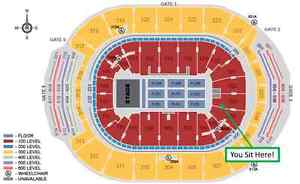 2 Pearl Jam Tickets - May 11/12 - Lower Bowl, Section 103 Row 11