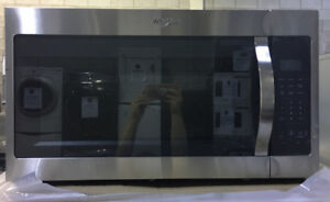 "30"" Stainless Steel Whirlpool Microwave Over the range $399"