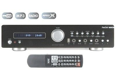 AMPLIFICADOR HI-FI 2x80W RMS CON RADIO LECTOR USB 4 ENTRADA DVD CD...