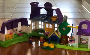 Little People Doll House and Playground Set
