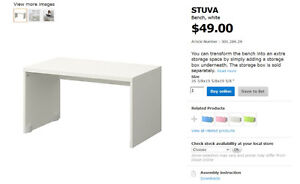 Ikea STUVA bench/can be used as kids table. good condition