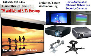 Home Entertainment Theater Design & Install   Projector Stratford Kitchener Area image 1