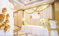 Event Recoration:Party backdrop and table skirt for rent