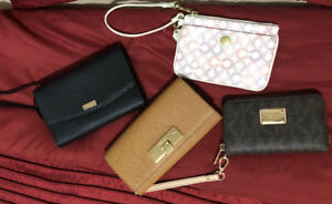 MICHAEL KORS, KATE SPADE AND COACH WRISTLETS AND WALLETS