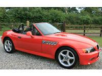BMW Z3 1.9 2 DOOR CONVERTIBLE SPORTS COUPE PETROL WARRANTIED LOW MILEAGE FSH