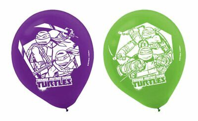 TEENAGE MUTANT NINJA TURTLES Pack of 6 Party Balloons Kids Birthday Decorations