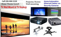 Home Entertainment Theater Design & Install   Projector and Scre