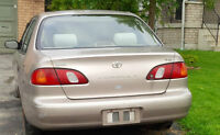 1998 Toyota Corolla Sedan to best offer AS IS for parts