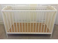 White wooden cot bed for sale