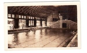 Carte postale photo : piscine Seigniory Club , Montébello, Qué.