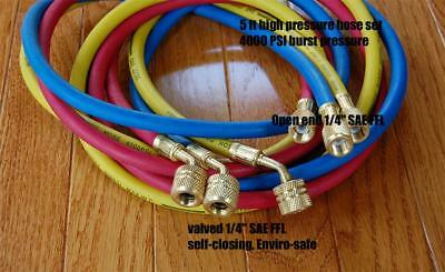 60hvac R410a Hose Set Manifold Gauge 8004000psi Epa Applied Low-loss Fittings