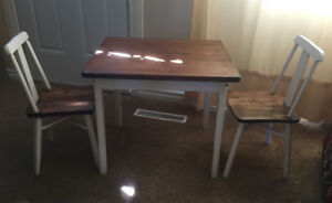 Child sized table and chair set