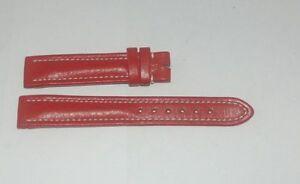 Breitling-CUERO-pulsera-banda-16mm-16-14-Hebilla-NUEVO-ROJO