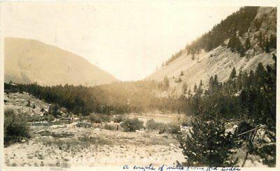 1928 Red Lodge Montana River Boats Canyon RPPC real photo postcard 2021