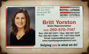 Need a Realtor in the Vanderhoof or surrounding area?