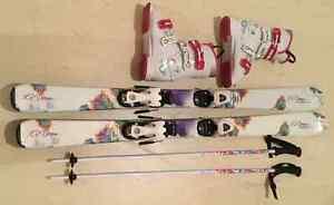 Ensemble skis fillette