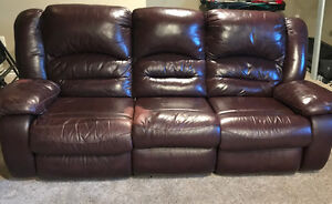 2 recliner leather sofa for sale in yorkton