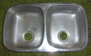 Stainless Steel Double Kitchen Sink-Used