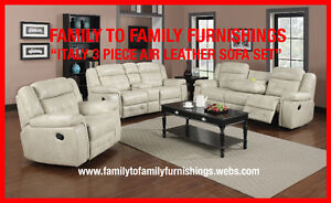 **SPRING BLOWOUT** ITALY 2PC AIR LEATHER SOFA SET