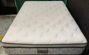 Excellent very thick white Pillow top queen mattress only for sale #15