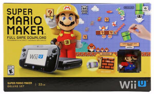 Wii U super mario maker edition + 2 games + amibo