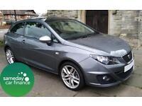 £152.06 PER MONTH GREY 2012 SEAT IBIZA 2.0 SC FR 3 DOOR DIESEL MANUAL