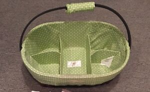 Sara Bear diaper change basket & 2 change cushions with covers