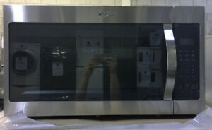 "30"" Stainless Steel Whirlpool Microwave Over range $399 as to*"