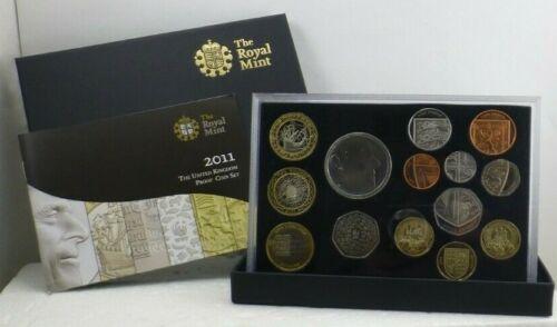 2011 British Royal Mint Fourteen Coin Proof - Brilliant - Uncirculated COA