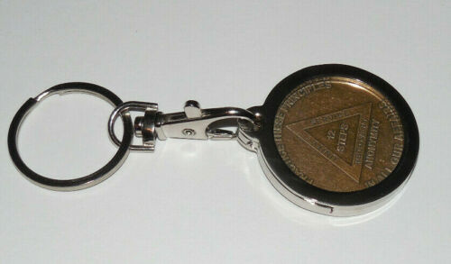 AA Medallion Holder Keychain Medallion Chip Coin