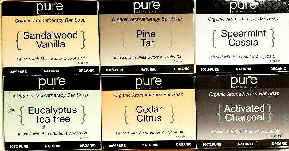 Natural Handmade Essential Oil Soap Bars with Shea Butter, C
