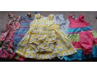 Baby girl Summer dresses bundle 3-6months (Next, H&M) VGC + free sealed pack of nappies