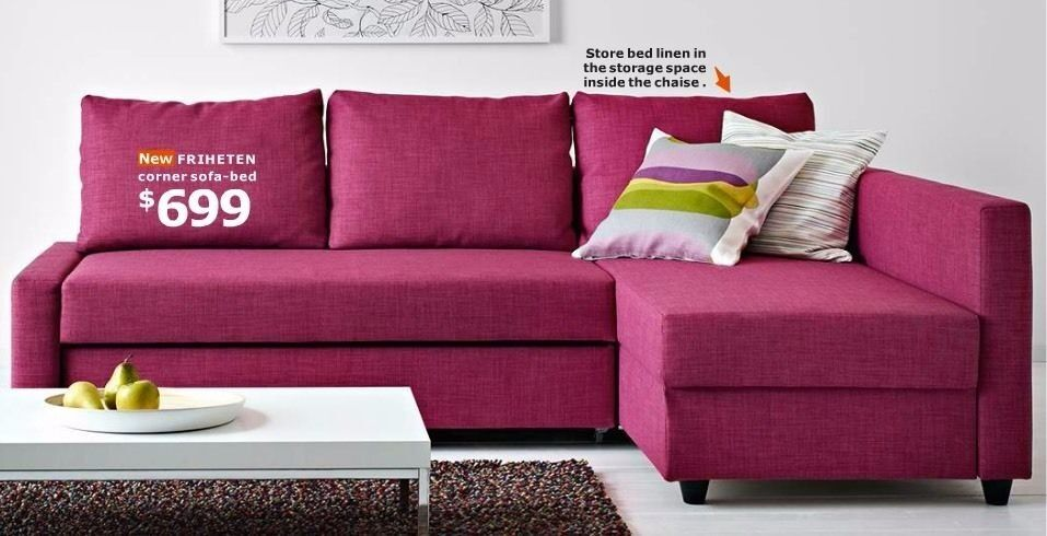 ikea friheten sofa bed pink limited edition in twyford berkshire gumtree. Black Bedroom Furniture Sets. Home Design Ideas