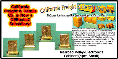 Railroad Relay/Electronics Cabinets-Small N/1:160-Scale CAL Freight & Details Co