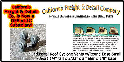Industrial Roof Cyclone Vents w/Round Base-Small (3pcs) CAL Freight & Details Co
