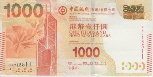 Hong Kong Banknote P345e new var. 1,000 Dollars  BOC 1.1.2014, UNC