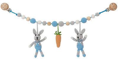 sindibaba Catenella per Passeggino Catena di carrozzina LEPRE bunny carota Blu