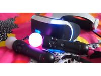 Playstation VR or PS VR hardly used with two Move Controllers and new camera!