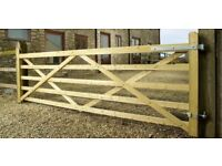 Charltons Highgrove 5 Bar Field Gates farm 12 ft entrance equestrian UNIVERSAL,TREATED,fence,fencing