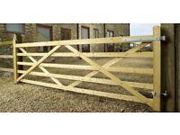 Charltons Highgrove 5 Bar Field Gates farm 12 ft entrance equestrian UNIVERSAL,TREATED,fence,fencing